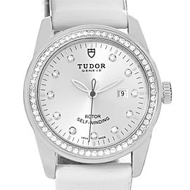 Tudor Glamour 53020 Stainless Steel White Diamond Dial 31mm Womens Watch