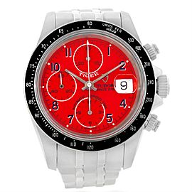 Tudor Tiger Prince 79260 Stainless Steel Red Dial 40mm Mens Watch