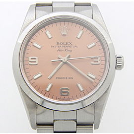 Mens Rolex Stainless Steel Air-King Salmon 14000