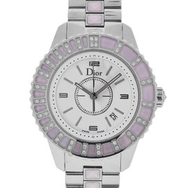 Christian Dior Christal Stainless Steel and Diamond 34mm Watch
