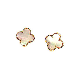 Van Cleef & Arpels 18K Yellow Gold with Mother of Pearl Earrings