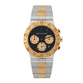 Bulgari Diagono CH35SG Two Tone Chronograph Watch