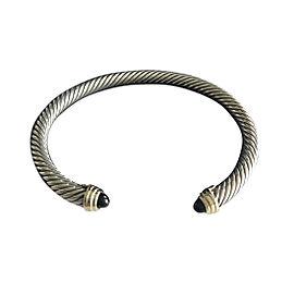 David Yurman Cable Classic Bracelet Onyx and Gold