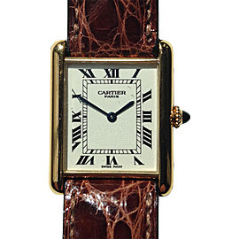 Cartier Tank Louis 18K Yellow Gold 23mm Womens Watch