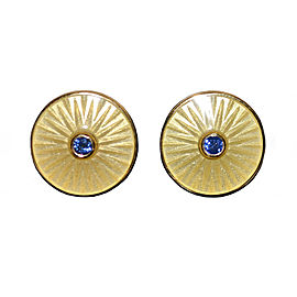 Deakin & Francis 18K Yellow Gold and Sapphire Cufflinks