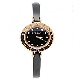Bulgari B.Zero1 Pink Gold Diamonds 23mm Ladies Watch BZ23BSGCC/12.M
