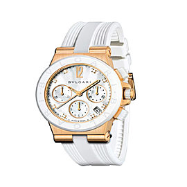 Bulgari Diagono 18K Pink Gold Chrono Ceramic 42mm Mens Watch DGP37WGCVDCH/8