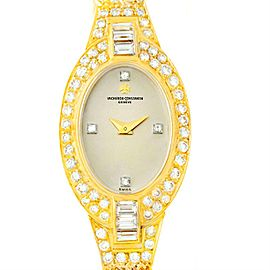 Vacheron & Constantin 18K Yellow Gold & Diamond Vintage 18mm Womens Watch