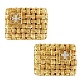 Vacheron Constantin Woven 18K Yellow and White Gold Cufflinks