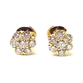 Van Cleef & Arpels 18K Yellow Gold Fleurette Diamond Earrings