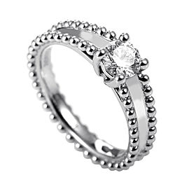 Van Cleef & Arpels Platinum .31ct Diamond Solitaire Engagement Ring Sz 3.75