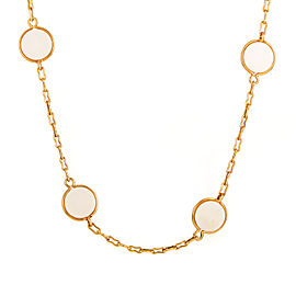 Van Cleef & Arpels 18K Yellow Gold & Ivory Necklace