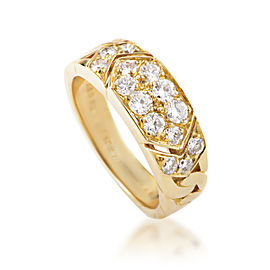 Van Cleef & Arpels 18K Yellow Gold Diamond Pave Band Ring