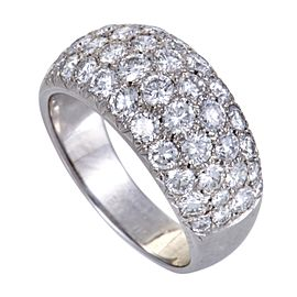 Van Cleef & Arpels 18K White Gold with 2.25ct Diamond Band Ring Size 5.75