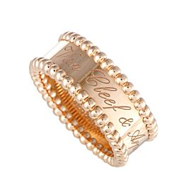 Van Cleef & Arpels Perlée 18K Rose Gold Band Ring Size 6.25