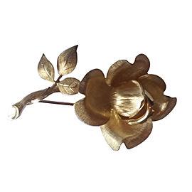 Tiffany & Co. 14K Yellow Gold Flower Brooch