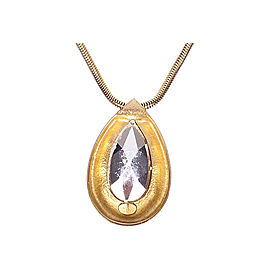 Lanvin Teardrop Cubic Zirconia Necklace