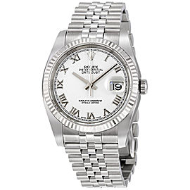 Rolex Datejust 116234 White Roma Jubilee 36mm Mens Watch