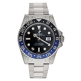"Rolex 116710 GMT Master II 40mm Mens ""Batman"" Watch"