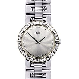 Piaget 18k White Gold Factory Diamond Bezel Ladies Watch