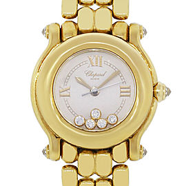 Chopard Happy Sport 18k Yellow Gold Diamond Watch