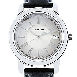 Tiffany & Co. Atlas Stainless Steel Leather Band Watch