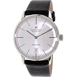 Hamilton Timeless Classic H38455751 Black Leather Swiss Automatic Mens Watch