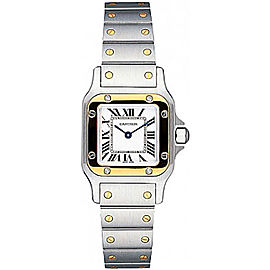 Cartier Santos W20012C4 Stainless Steel and 18K Yellow Gold 24mm Quartz Women