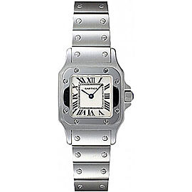 Cartier Santos de Cartier W20056D6 Stainless Steel 24mm Quartz Womens Watch