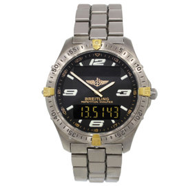 Breitling Aerospace F65062 Two Tone Titanium 39mm Mens Watch