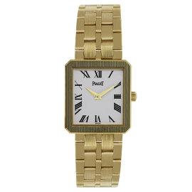 Piaget Protocole M601D 18K Yellow Gold White Dial Quartz 24mm Unisex Watch
