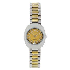 Rado Diastar 963.0558.3 Two Tone Stainless Steel Diamond Dial Quartz 21mm Womens Watch