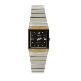 Rado Diastar 111.0197.3 Gold Plated & Stainless Steel Black Dial Quartz 22.5mm Womens Watch