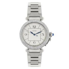 Cartier Pasha 2730 Stainless Steel Diamond Bezel 42mm Mens Watch