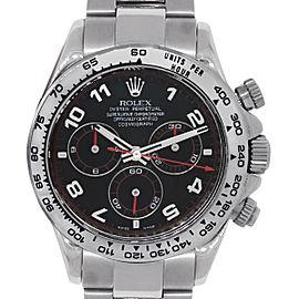 Rolex 116509 Daytona 18k White Gold Black Dial Mens Watch