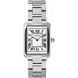 Cartier Tank Solo W5200013 Stainless Steel 31mm Quartz Women Watch