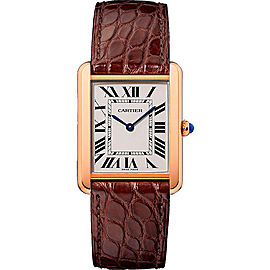 Cartier Tank Solo W5200025 18K Rose Gold and Stainless Steel 34.8mm Quartz Women Watch