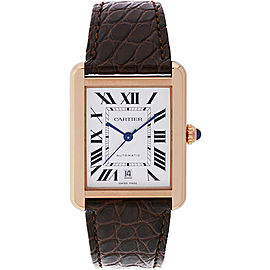 Cartier Tank Solo XL W5200026 18K Rose Gold 40.85mm Automatic Mens Watch