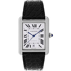 Cartier Tank Solo XL W5200027 Stainless Steel 31mm Automatic Mens Watch