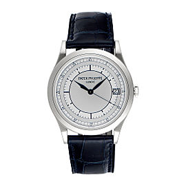 Patek Philippe Calatrava 5296G-001 18K White Gold with Silver Dial Automatic 38mm Mens Watch