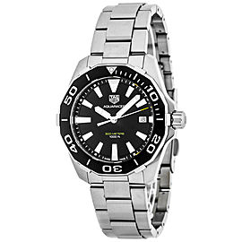 TAG Heuer Aquaracer Quartz SS Black Dial Brushed Watch