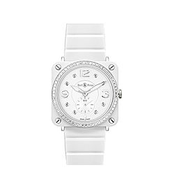 Bell & Ross Phantom BRS-WHT-PHANTOM Ceramic Womens 39mm Watch