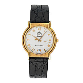 Buccellati Dal 1919 18K Yellow Gold & Leather Quartz 32mm Womens Watch