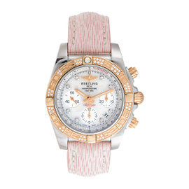Breitling Chronomat CB0140 Stainless Steel and 18K Rose Gold Original Diamond Bezel 41mm Watch