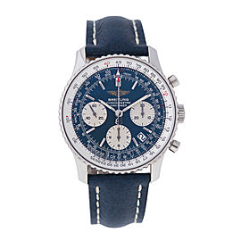 Breitling Navitimer A23322 Stainless Steel Chronograph Blue Dial 43.5mm Watch