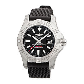 Breitling Avenger II Seawolf A17331 Black Dial Automatic 45mm Mens Watch