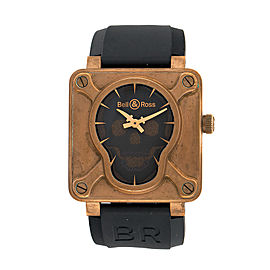 Bell & Ross Aviation BR 01 Skull Bronze BR0192-SKULL-BR 46mm Mens Watch
