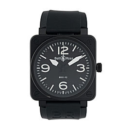 Bell and Ross BR01-92 Black Ceramic and Satin Steel Automatic Black Dial 46mm Mens Watch