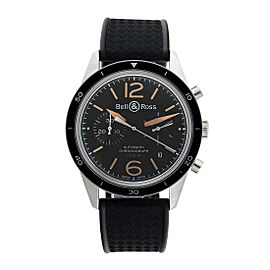 Bell & Ross Vintage BR126-BLK-CALF 41mm Mens Watch