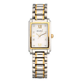 Bulova Gold Plated Stainless Steel Quartz 21mm Womens Watch